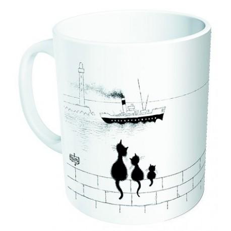 Mug - Trois chats sur le mur - Chats Dubout