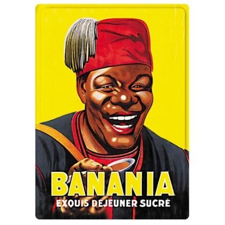 Plaque métal - Buste - Banania