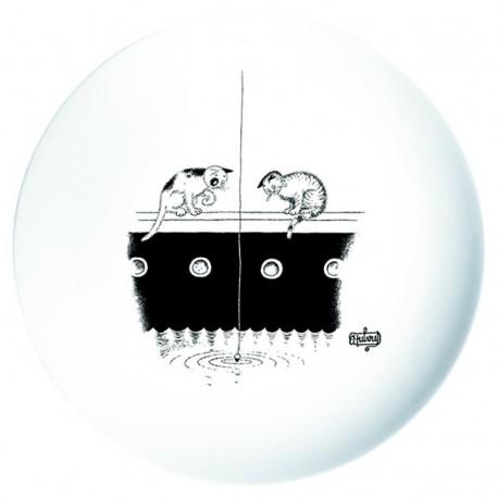 Assiette - Pêche à la ligne - Chats Dubout