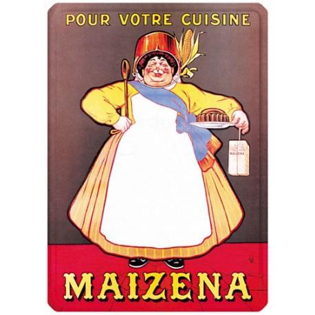 Plaque métal - Cuisinière - Maizena