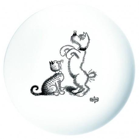 Assiette - Dressage de chien - Chats Dubout
