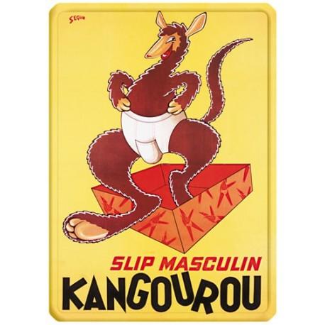 Plaque métal - Slip - Kangourou