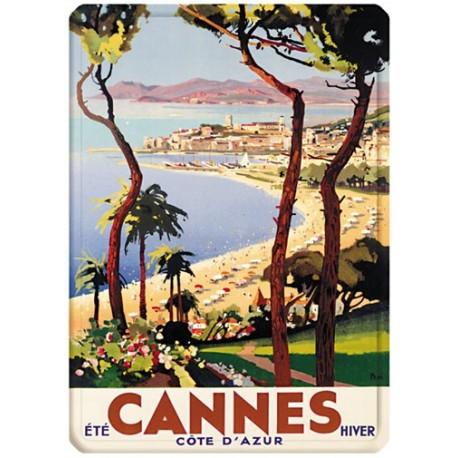 Plaque métal - Cannes - Eté hiver - PLM
