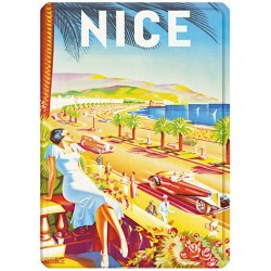 Plaque métal 15x21 - Nice La Promenade des Anglais