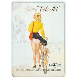 Plaque métal 15x21 - Culottes Véloski