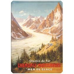 Plaque métal 15x21 - Chamonix La Mer de Glace