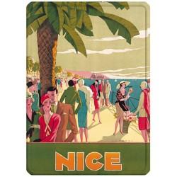 Plaque métal 15x21 - Nice - Promenade animée (fin de série)
