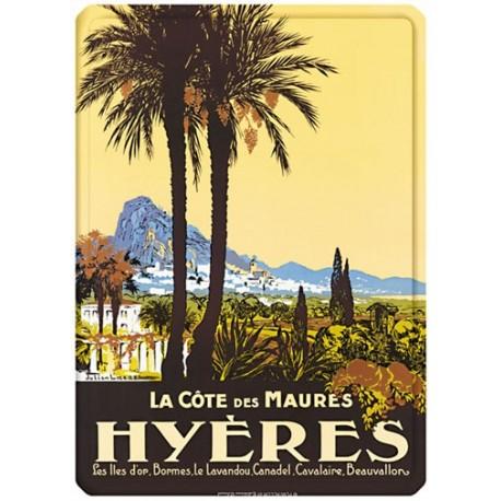 Plaque métal - Hyères - La Côte des Maures - PLM
