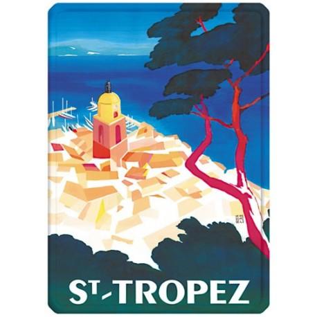Plaque métal - Vue aérienne de Saint-Tropez - Ville de Saint-Tropez