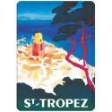 Plaque métal 15x21 - Vue aérienne de Saint-Tropez (fin de série)