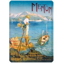 Plaque métal - Menton - Le pêcheur