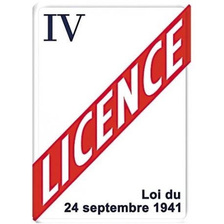 Plaque métal - Licence IV - Licence IV