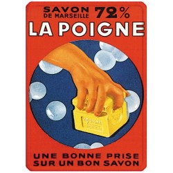 Plaque métal - Savon La Poigne