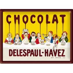 Plaque métal - Tablée d'enfants - Chocolat Delespaul-Havez