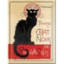 Plaque métal - Tournée du Chat noir