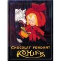 Plaque métal 30x40 - Chaperon rouge Chocolat
