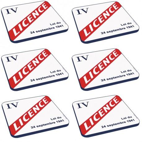 6 dessous de verres - Licence IV - Licence IV