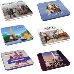 6 dessous de verres - Paris 2 (fin de série)