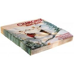 Serviettes - Les deux sauteurs Chamonix