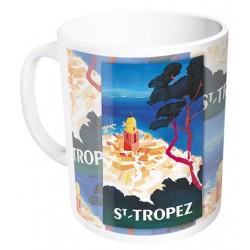 Mug - Vue aérienne de Saint Tropez (fin de série)