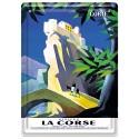 Plaque métal 15x21 - Village de Corte en Corse