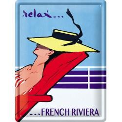 Plaque métal 30x40 - Relax sur la Côte d'Azur (fin de série)