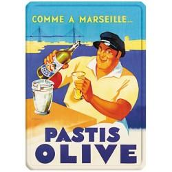 Plaque métal 15x21 - Pastis Marseille
