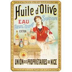 Plaque métal 15x21 - Huile d'Olive de Nice