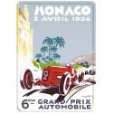 Plaque métal 15x21 - Grand Prix de Monaco de 1934