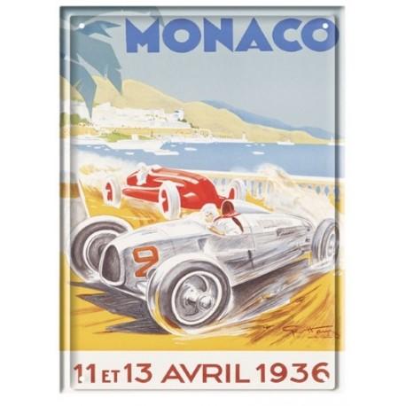 Plaque métal 15x21 - Grand Prix de Monaco de 1936