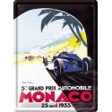 Plaque métal 30x40 - Grand Prix de Monaco de 1933