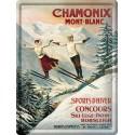 Plaque métal 30x40 - Chamonix - Les deux sauteurs