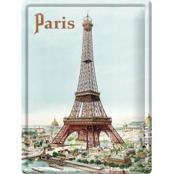 Plaque métal 30x40 - La Tour Eiffel