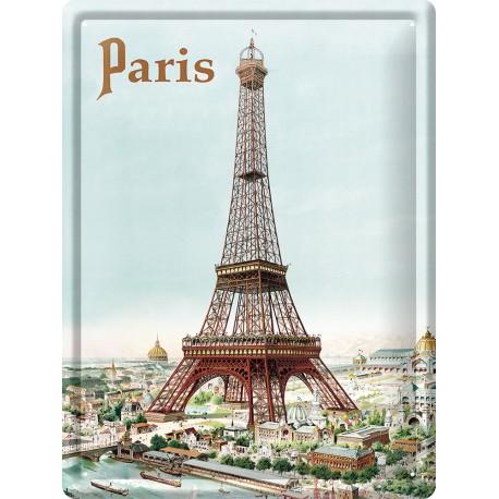 Plaque métal - La Tour Eiffel - Tour Eiffel