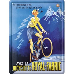 Plaque métal - Bicyclette - Bicyclette Royal-Fabric
