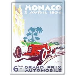 Plaque métal 30x40 - Grand Prix de Monaco de 1934