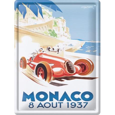 Plaque métal - Grand Prix de Monaco de 1937 - Ville de Monaco