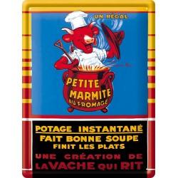 Plaque métal - Marmite - Vache qui rit