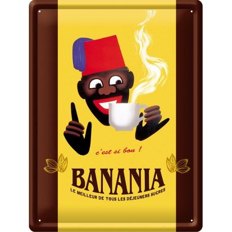 Plaque métal - Chocolat - Banania
