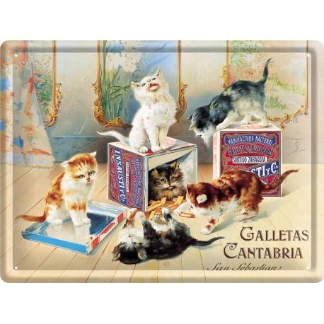 Plaque métal - Biscuits chats - Galletas Cantabria