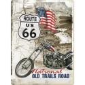 Plaque métal 3D 30x40 - Old Trails Road