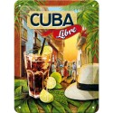 Plaque métal 3D 15x20 - Cuba Libre