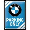 Plaque métal 3D 15x20 - Parking Only