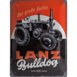 Plaque métal 3D 30x40 - Bulldog