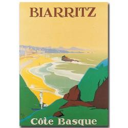 Affiche - Biarritz Côte basque (rupture définitive)
