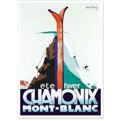 Affiche - Chamonix - Eté hiver - PLM