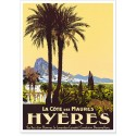 Affiche - Hyères - La Côte des Maures
