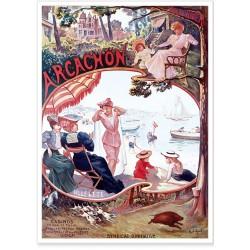 Affiche - Arcachon - Eté hiver - Compagnie PO
