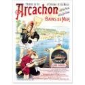 Affiche - Arcachon - Bains de mer