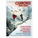 Affiche - Chamonix - Les deux sauteurs